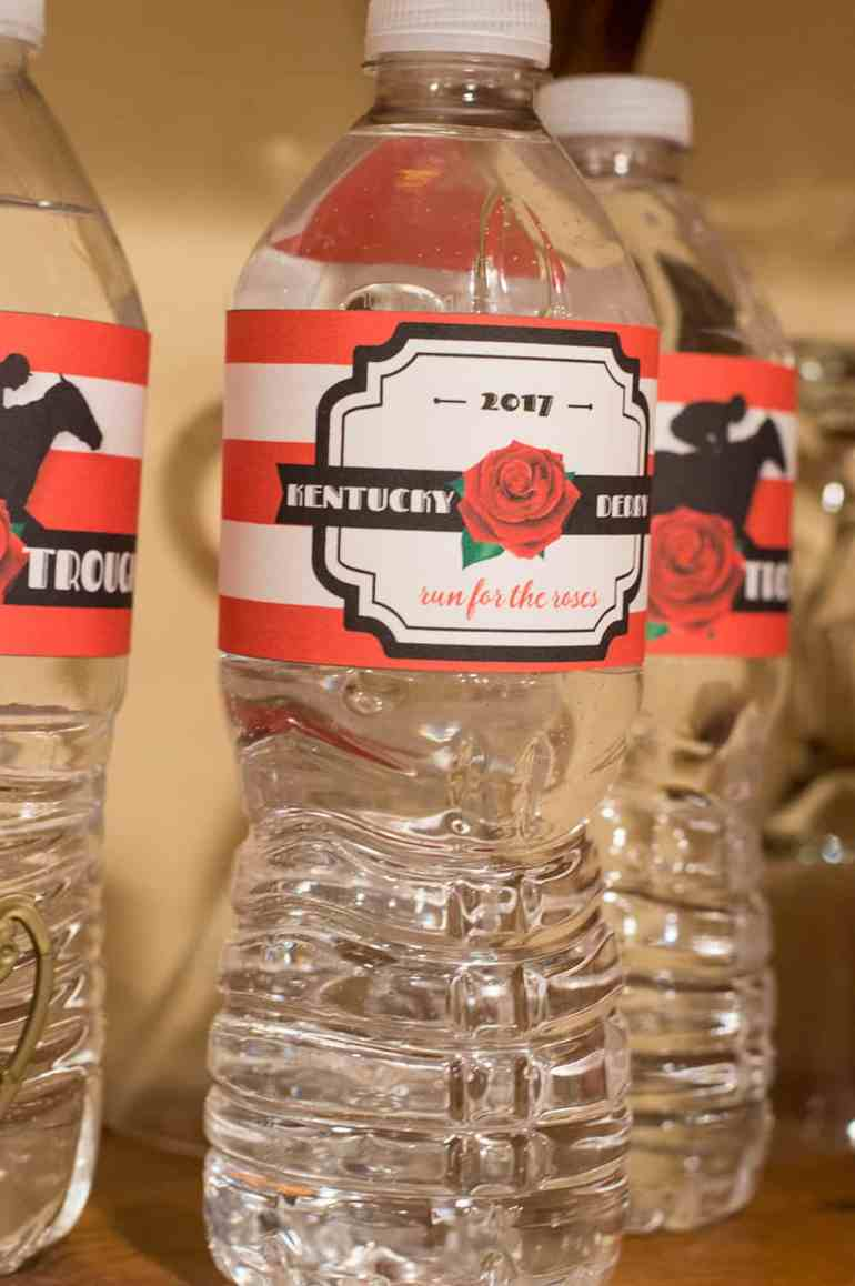 Kentucky Derby Party Water Bottle Labels   Free Printable from Elva M Design Studio, now updated to use any year