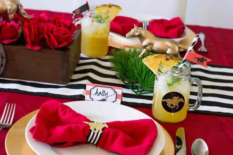 Kentucky Derby Pineapple Mint Julep Sangria and Table Setting   Elva M Design Studio