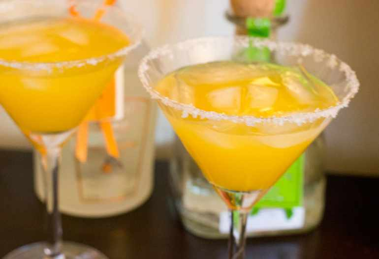 Orange Margaritas at the Chippin, Dippin, and Margarita Sippin Fiesta