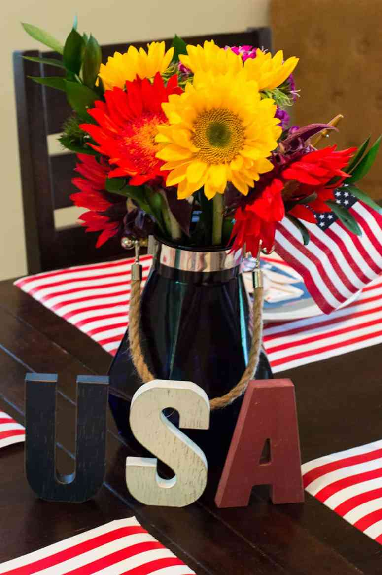 4th of July Floral Centerpiece