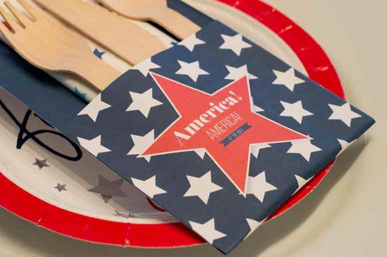 4th of July utensil holder