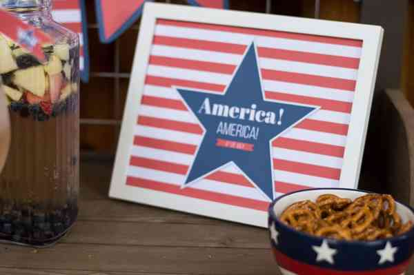 Stars and Stripes 4th of July Decoration