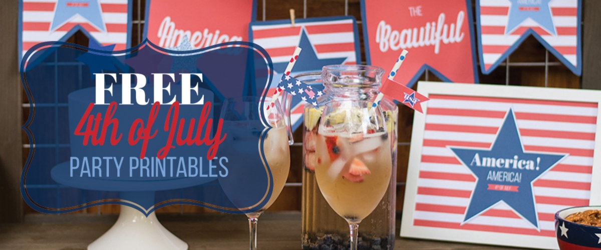 Free 4th of July Party Printables from Elva M Design Studio