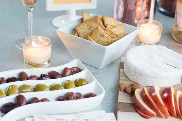 Olives make a great snack for guests