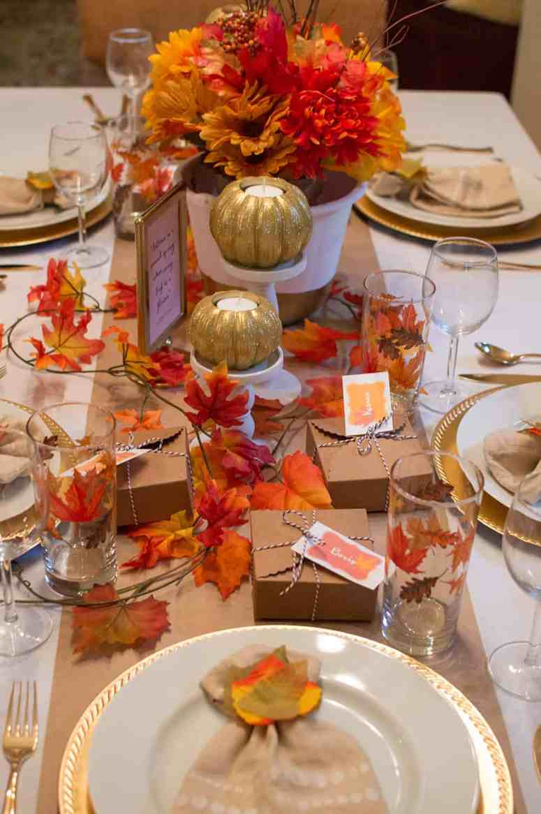 Festive Fall Tablescape from Elva M Design Studio