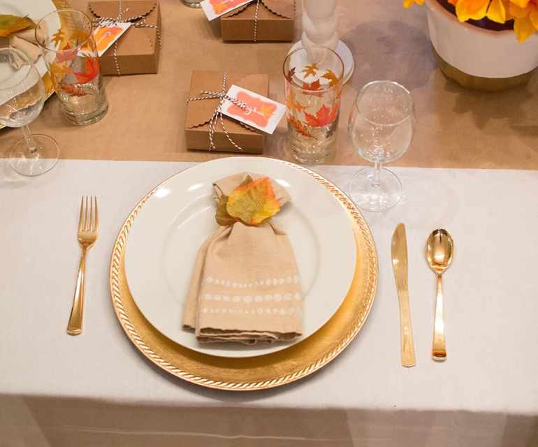 Festive Fall Place setting
