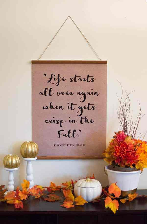 Fall Quote Banner