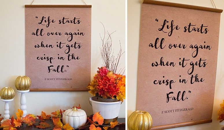 DIY Fall Quote Banners