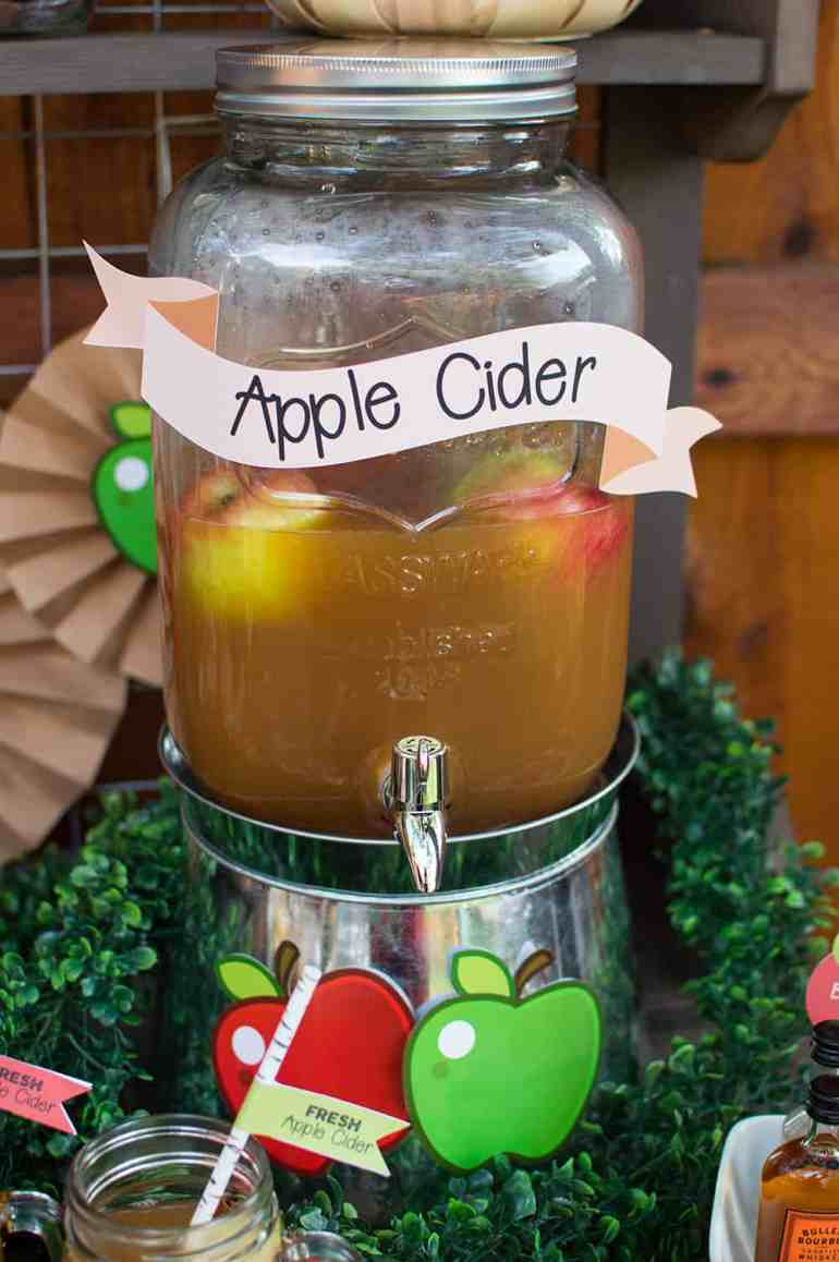 Fall Apple Cider Drink Dispenser from Oriental Trading