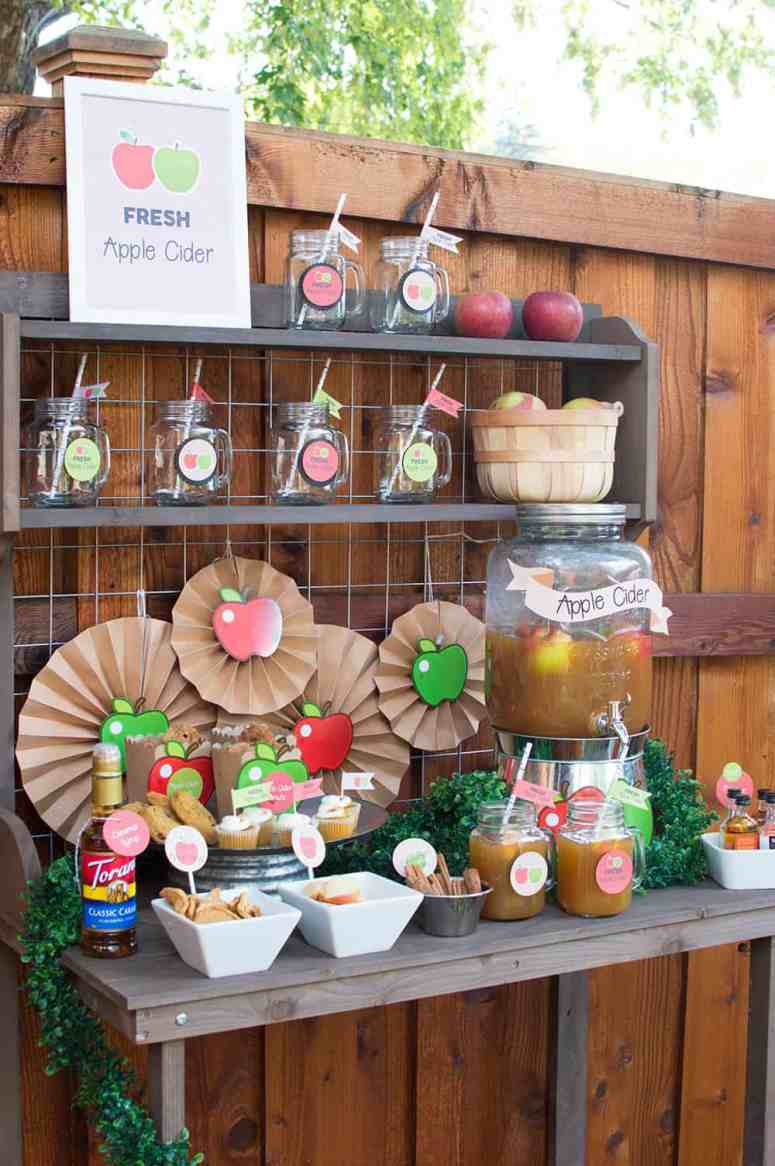 Fall Apple Cider Bar from Elva M Design Studio