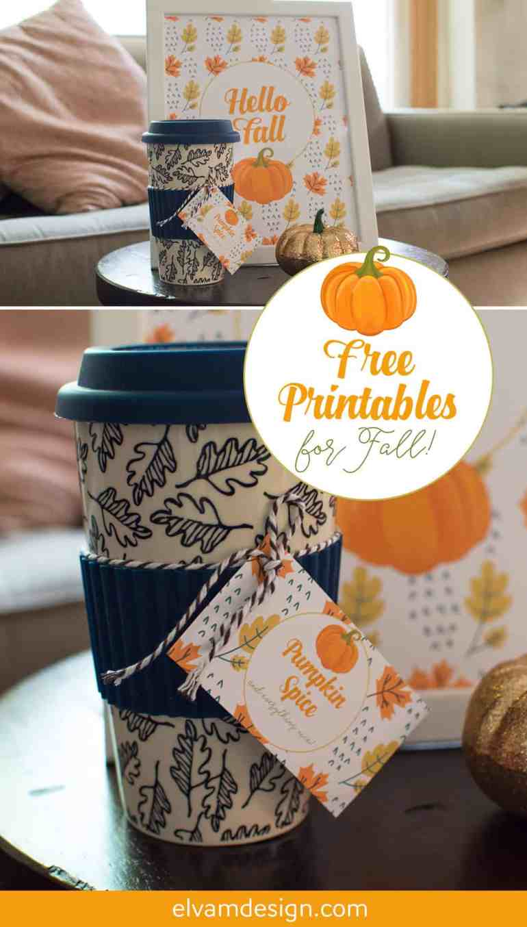 Pumpkin Spice and Everything Nice Free Fall Printables