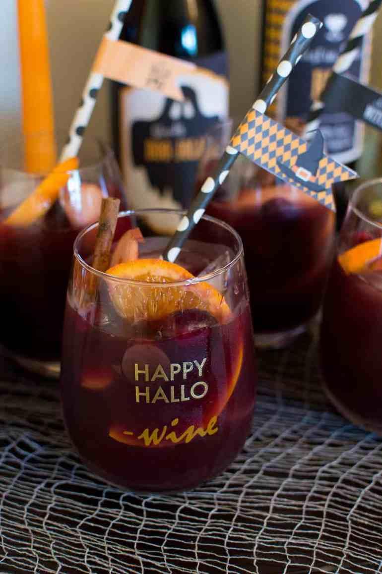 Red Wine Sangria Cocktails from Elva M Design Studio