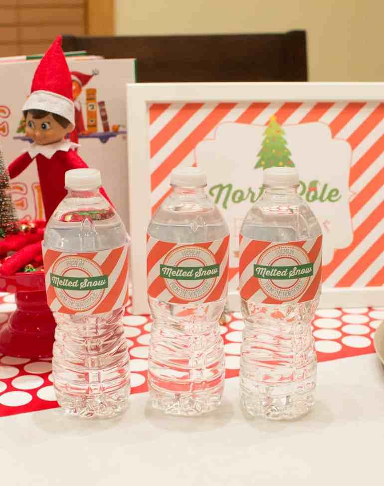 Melted Snow Water Bottle Labels from Elva M Design Studio