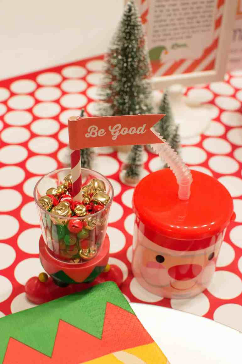Oriental Trading Elf Shot Glass and Reindeer Cup