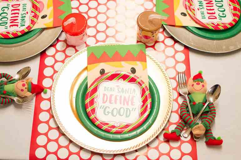 Elf on the Shelf North Pole Breakfast Place Setting styled by Elva M Design Studio