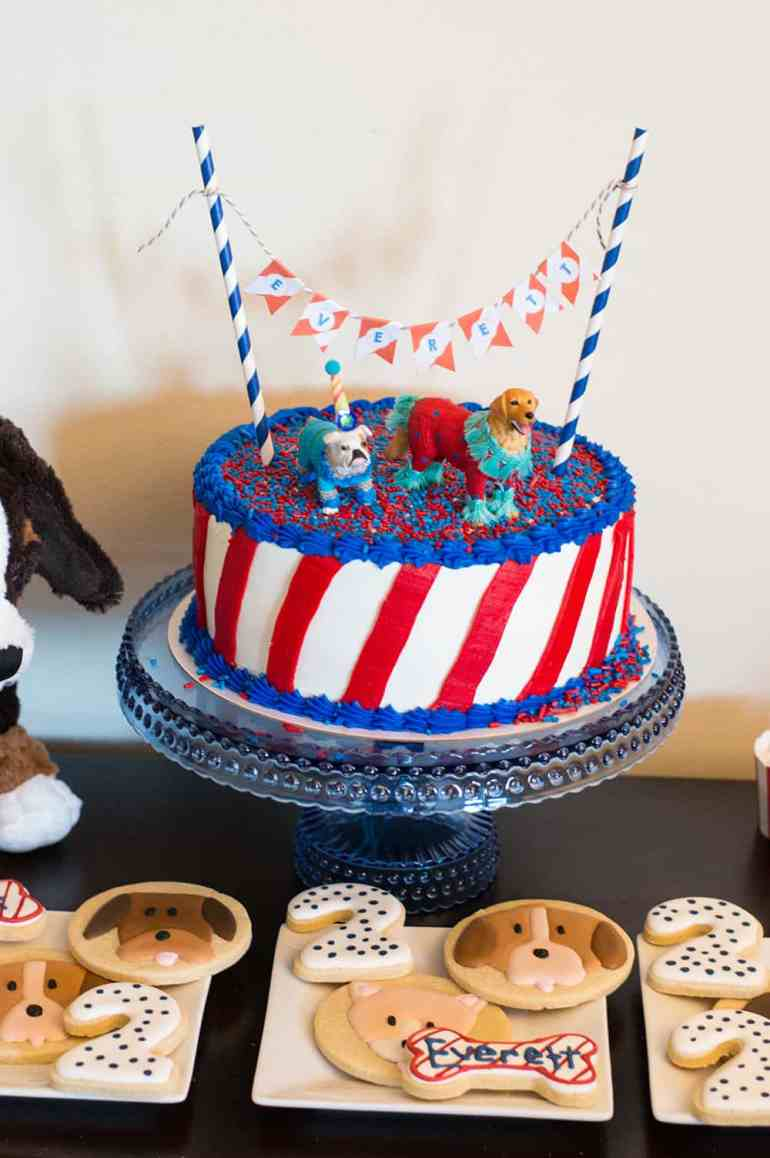 Puppy Party Cake from Elva M Design Studio