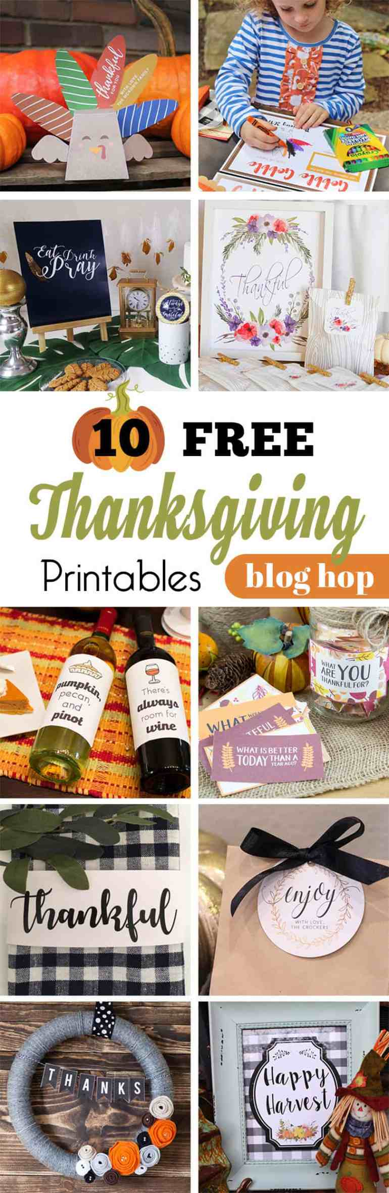 Free Thanksgiving Printables Blog Hop