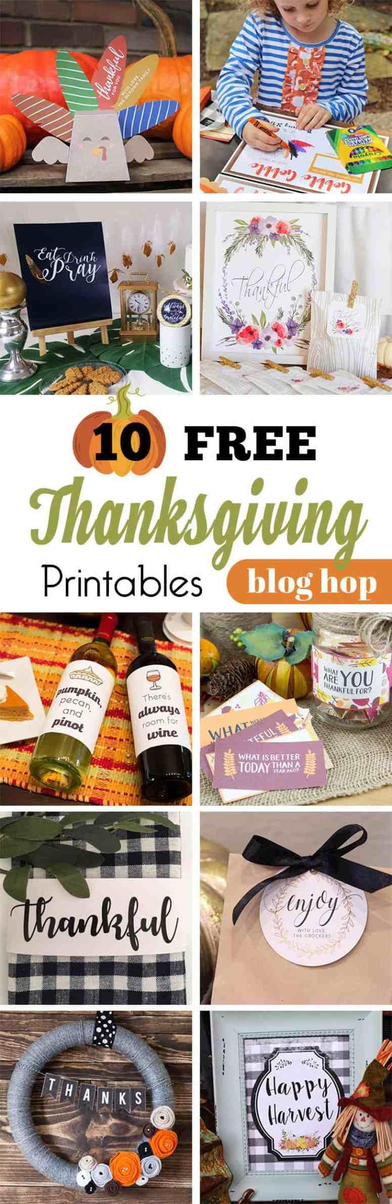 Free Thanksgiving Printables Blog Hop