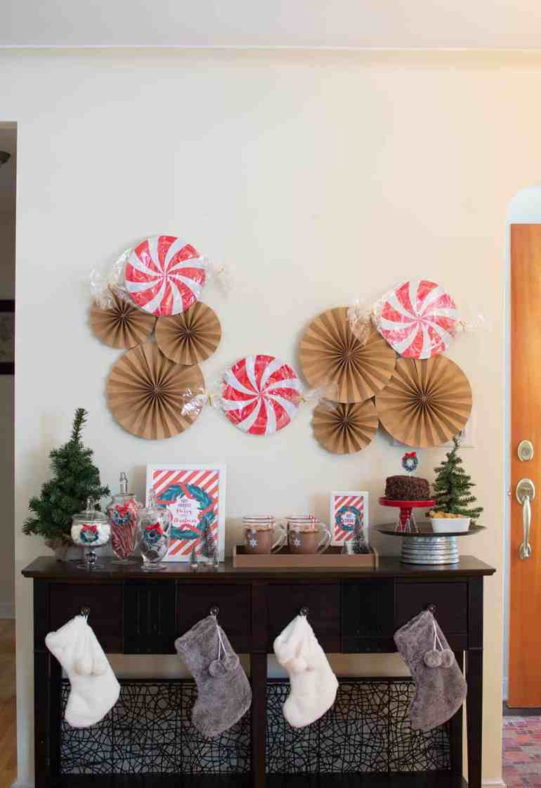 Holiday Hot Cocoa Bar Party styled by Elva M Design Studio
