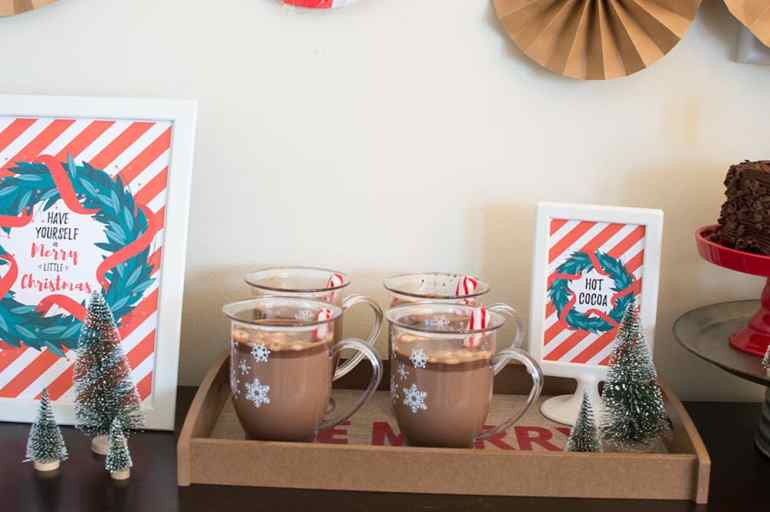 Holiday Hot Cocoa Cups from Oriental Trading and Styled by Elva M Design Studio
