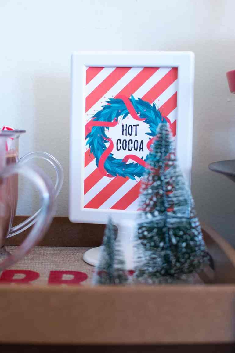 Hot Cocoa Sign from Elva M Design Studio