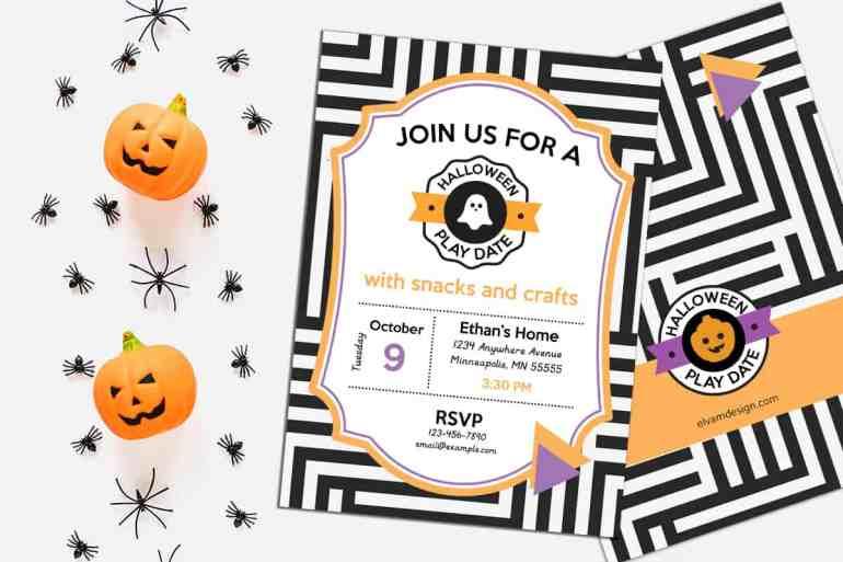 Halloween Play Date Invitation from Elva M Design Studio