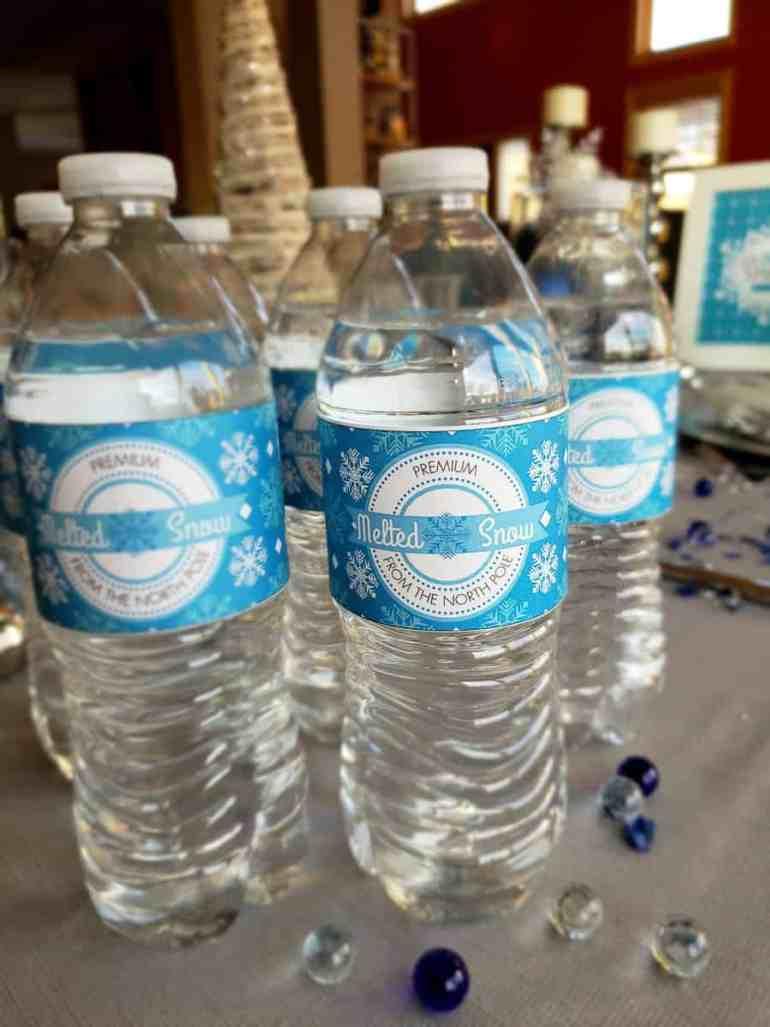 Winter Wonderland water bottle wraps