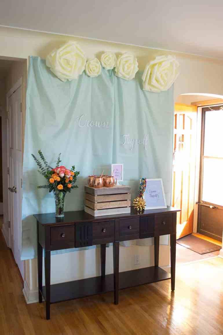 Crown Thyself Brunch Welcome Table by Elva M Design Studio