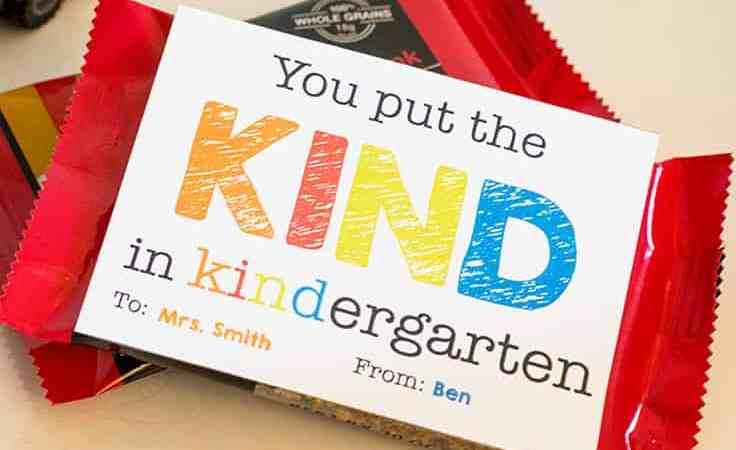 Free Kindergarten Teacher Appreciation Gift Tag