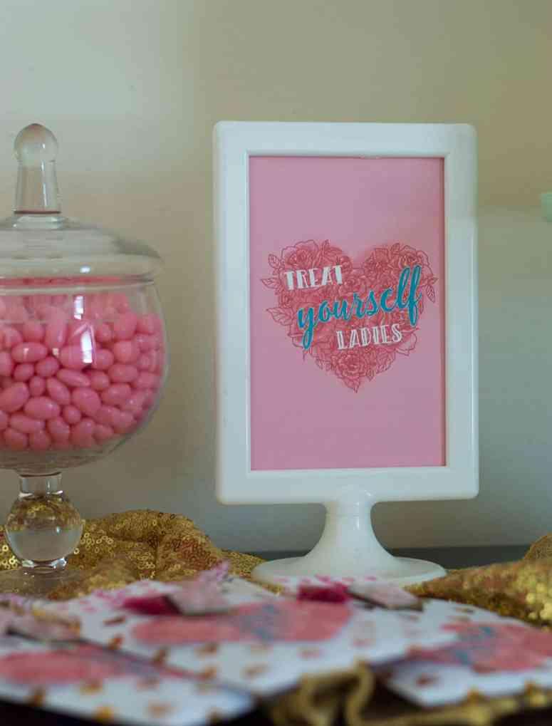 Treat Yourself Ladies sign by Elva M Design Studio