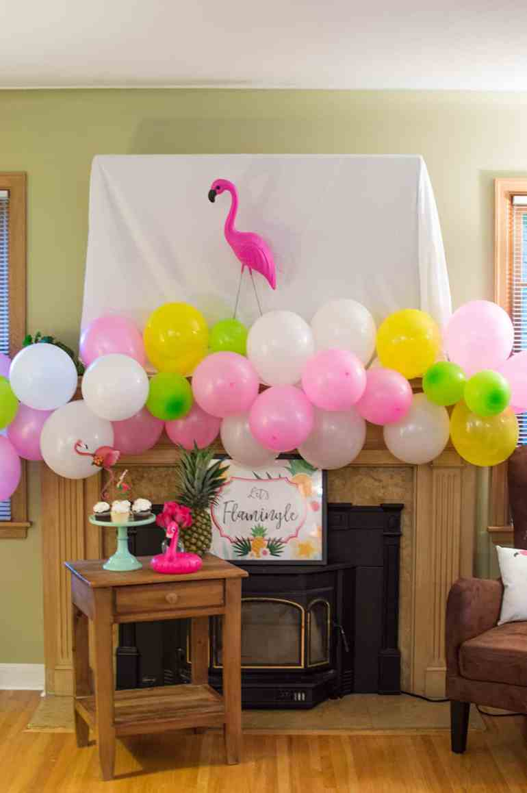 DIY Balloon Garland at this Flocktails and Friendship Mom's Night Out