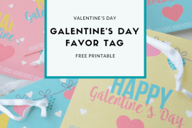 Download these free Galentine's Day Favor Tags from Elva M Design Studio