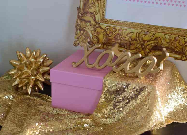 Gold Decor used at the Girl Gang Galentine's Day Party styled by Elva M Design Studio
