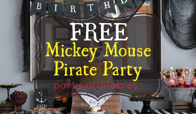 Mickey Mouse Pirate Party Printables