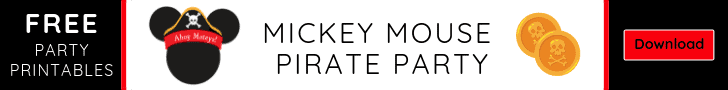 Download these free Mickey Mouse Pirate Party Printables from Elva M Design Studio