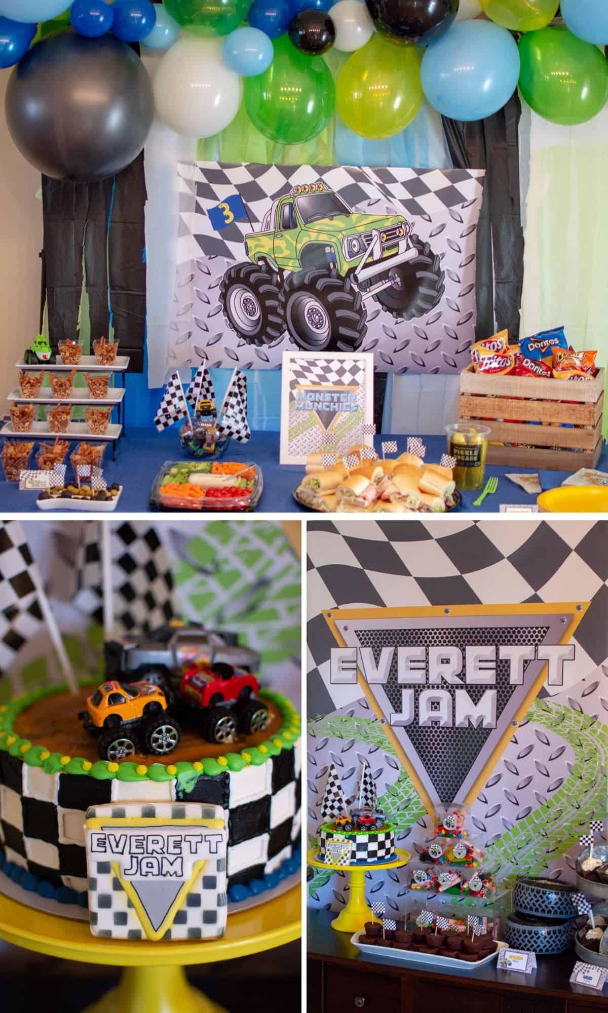 Monster Truck Birthday Party Elva M Design Studio