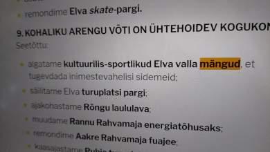Photo of KOALITSIOONILEPING LUBAB ELVA VALLA MÄNGE. NEID SIISKI EI TULE