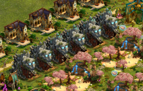 6 Marble factories taking up 12 Road spaces.