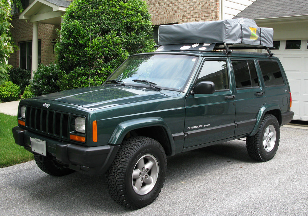 Jeep is all packed up!