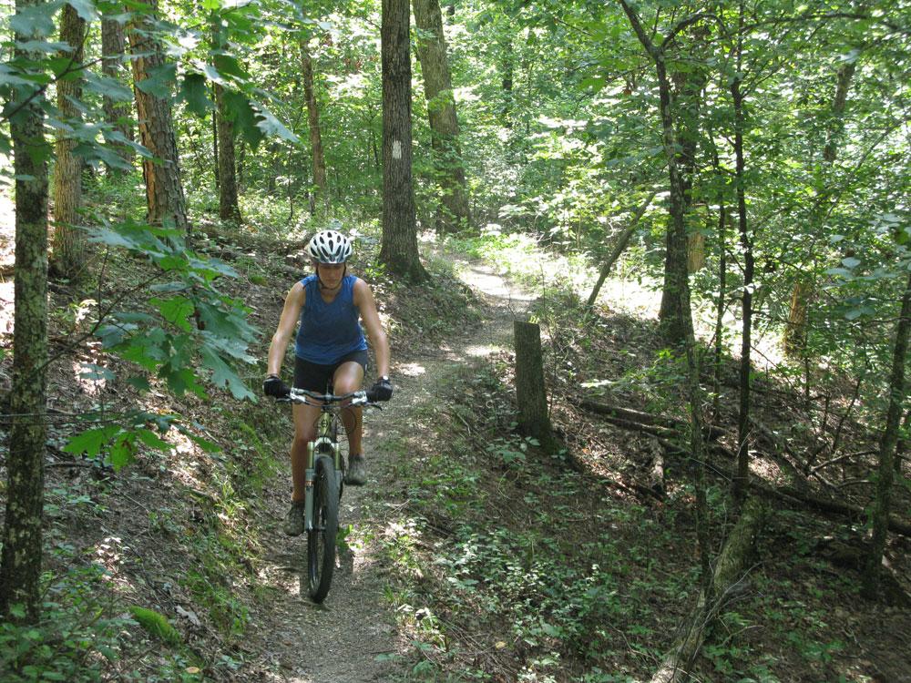 Caro's first mountain bike ride, she's a natural.