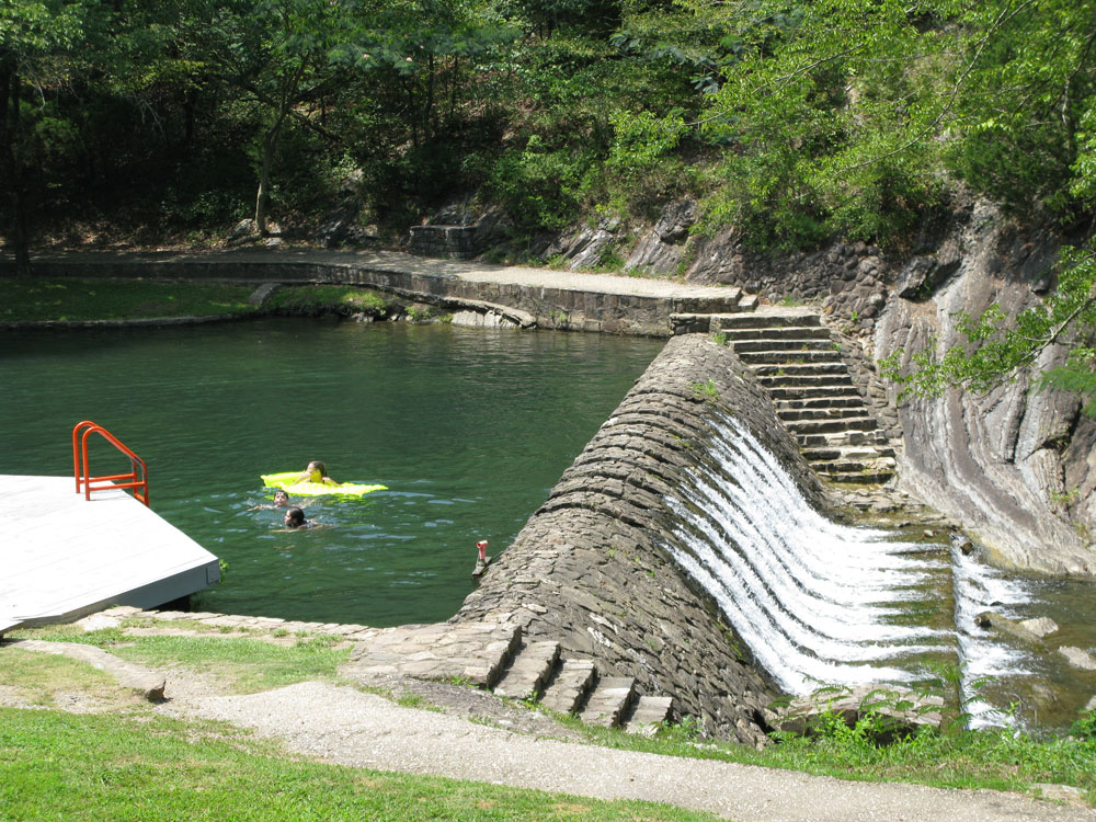 A refreshing swimming hole