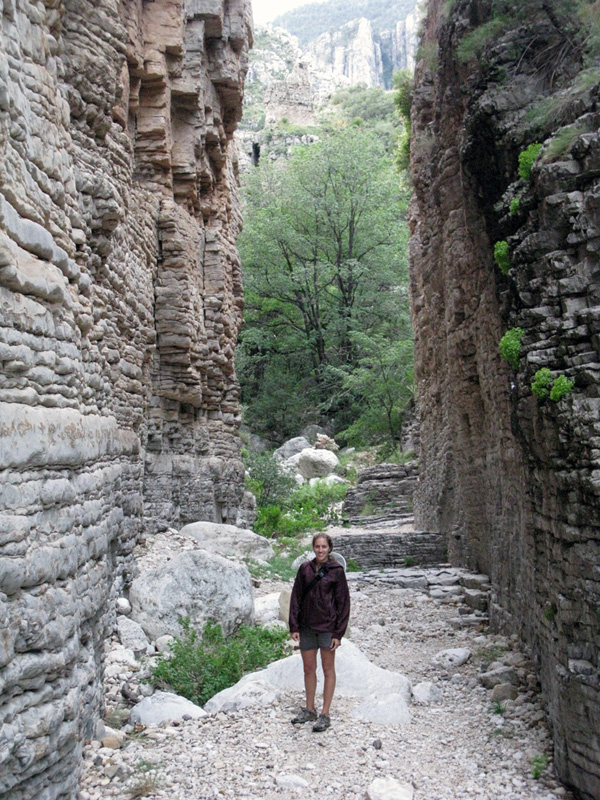 Hiking up the Devil's Hallway trail in Guadalupe Mtns National Park.