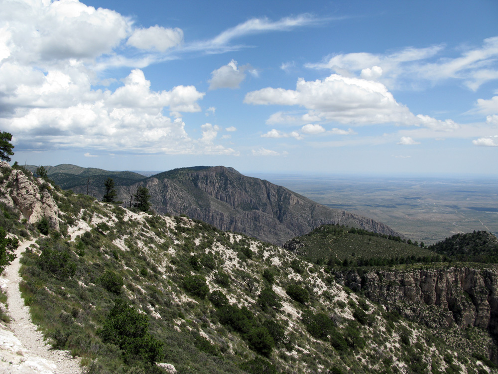 Great views from the highest mountain in Texas.