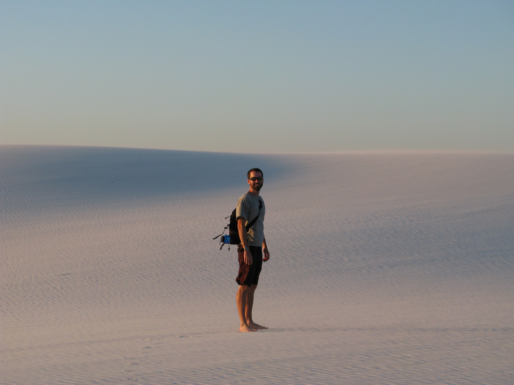 Pat at White Sands.