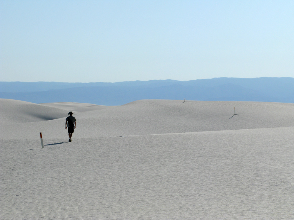 The Alkali flat hike around White Sands.