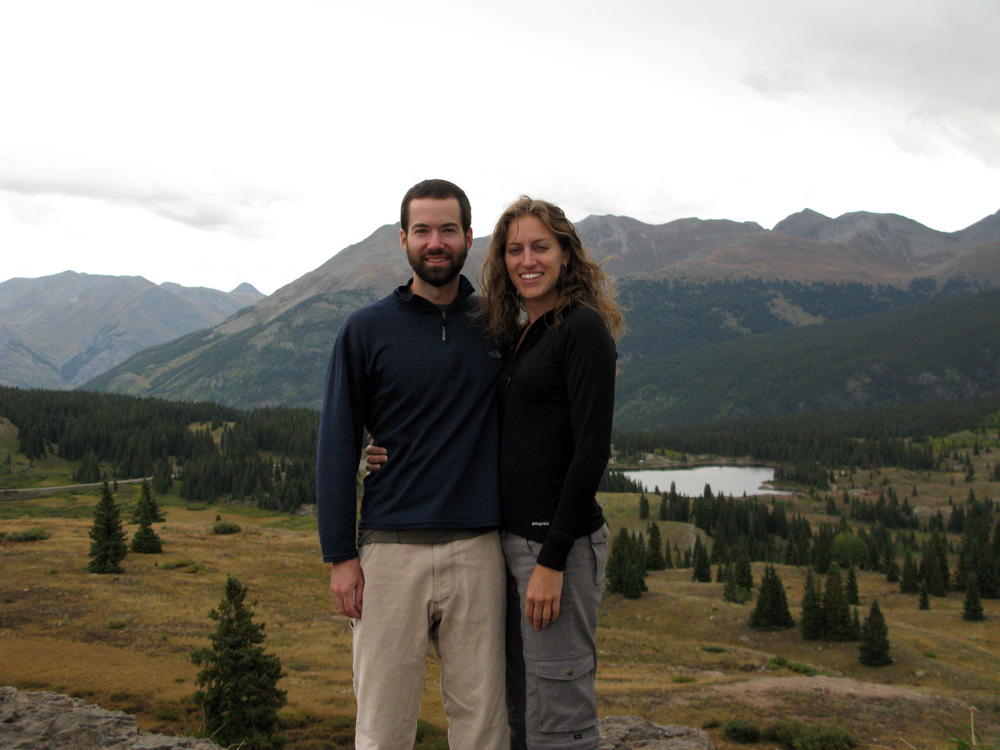 Against Molas Pass, traversed by the Million Dollar Highway.