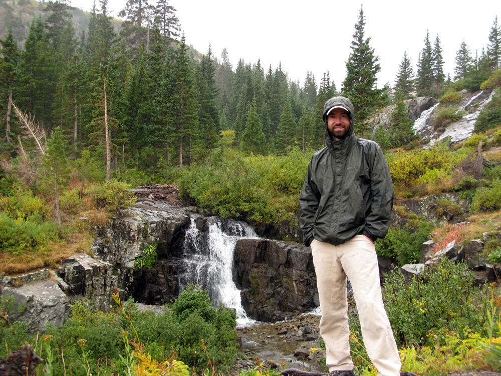 Caught in the rain, we abandoned Imogene Pass.