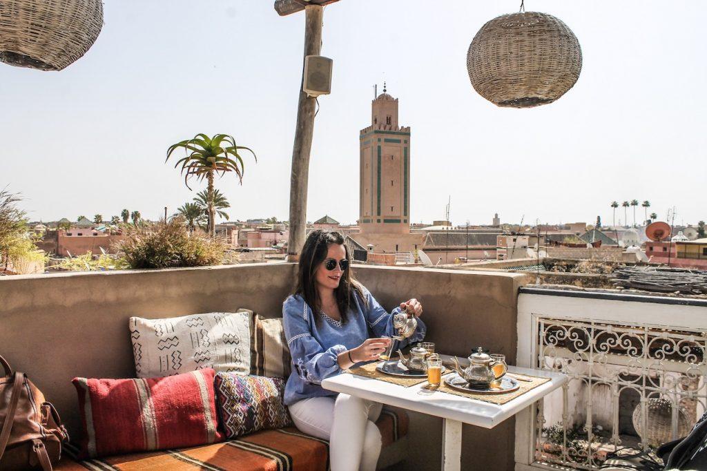 Azoteas y restaurantes donde comer en Marrakech