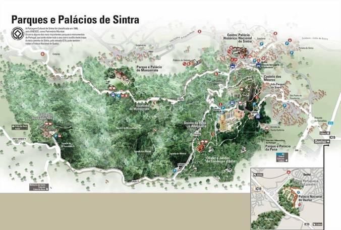 Mapa Sintra - Ruta Lisboa - El Viaje No Termina