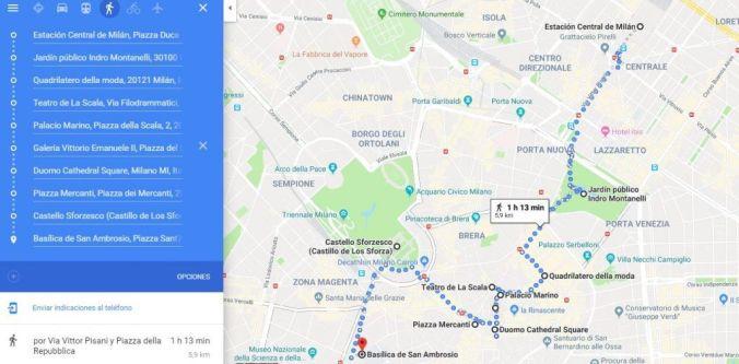 Ruta a pie por Milán - EVNT